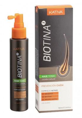 Тоник против выпадения волос с биотином BIOTINA 100мл Kativa: фото