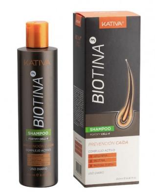 Шампунь против выпадения волос с биотином Kativa BIOTINA 250мл: фото