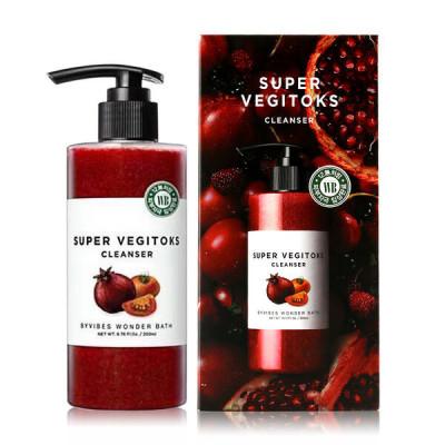 Детокс-гель осветляющий для умывания Wonder Bath SUPER VEGITOKS CLEANSER [RED] 300мл: фото