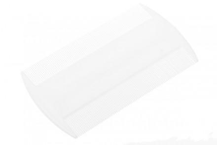 Расчёска-гребень пластиковая с частыми зубцами EUROSTIL белая: фото
