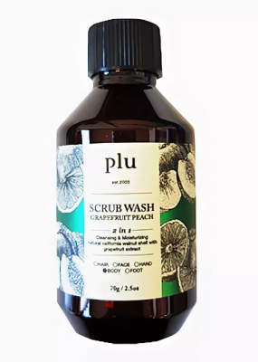 Скраб-гель для душа персик и грейпфрут PLU Scrub wash grapefruit peach 70г: фото