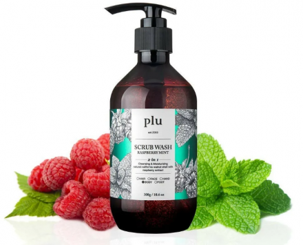 Скраб-гель для душа малина и мята PLU Scrub wash raspberry mint 300г: фото