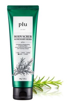 Скраб для тела с розмарином PLU Body scrub rosemany herb 200г: фото