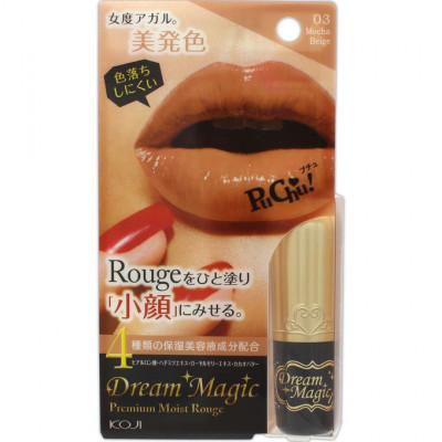 Губная помада увлажняющая Koji Dream magic premium moist rouge тон №03 мокко бежевый 5г: фото